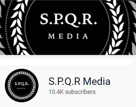 SPQR Media youtube channel headers